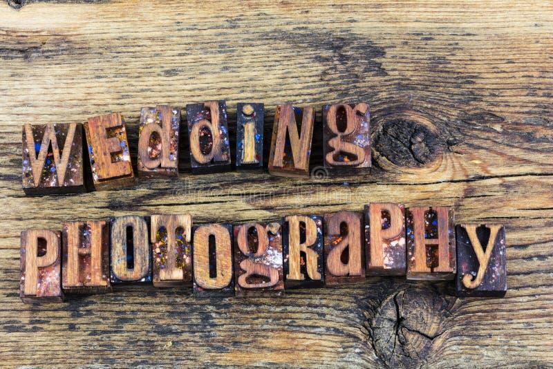 Bröllopfotografiboktryck royaltyfria bilder