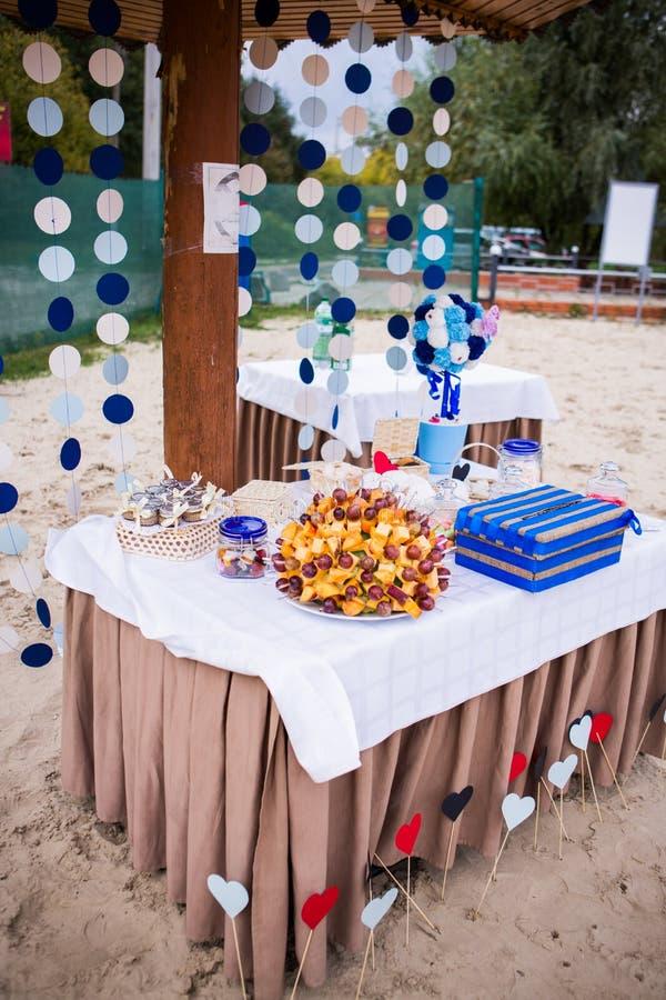 Bröllopgodisstång royaltyfri fotografi