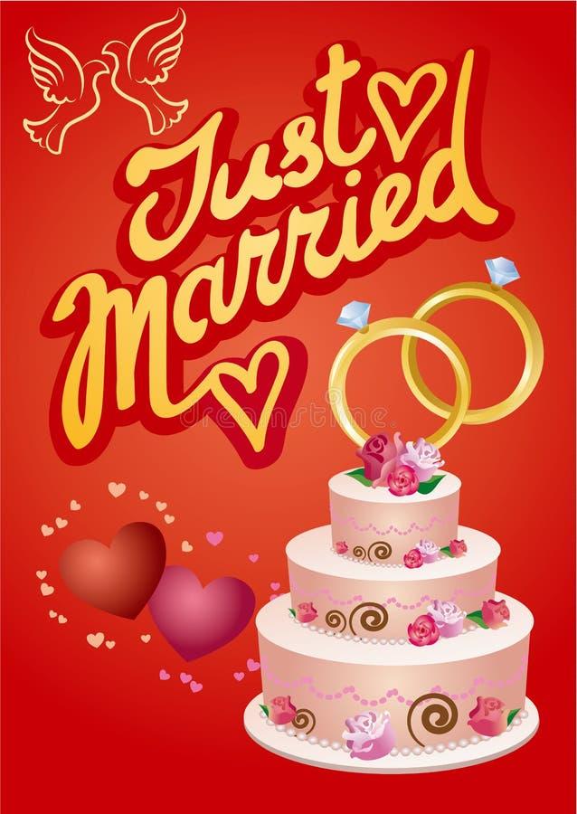 Bröllophälsningskort royaltyfri illustrationer