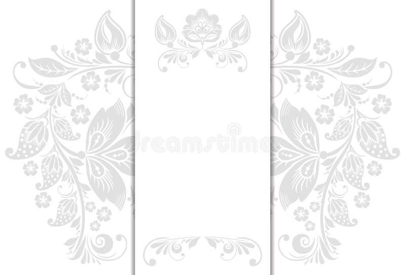 Bröllopinbjudankort vektor illustrationer