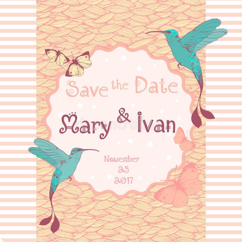 Bröllopinbjudankort som är redigerbart med bakgrund royaltyfri illustrationer