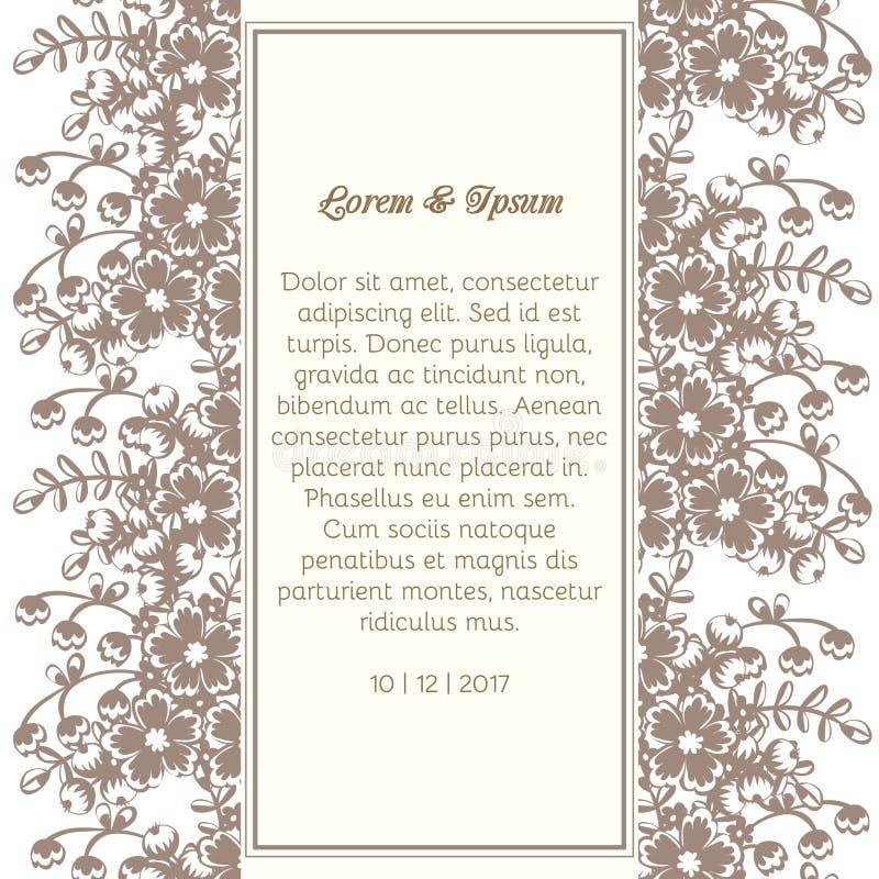 Bröllopkort royaltyfri illustrationer
