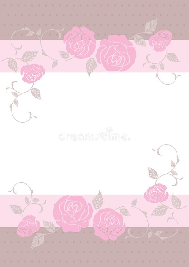 Bröllopkort, kortmall stock illustrationer