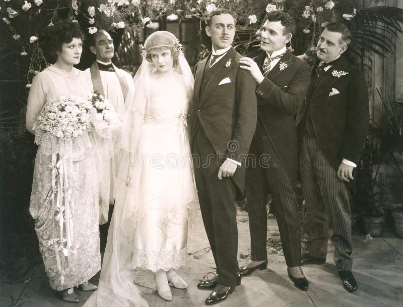Brölloppartiet arkivfoton
