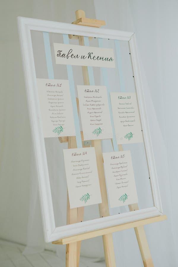 Bröllopplacering fotografering för bildbyråer