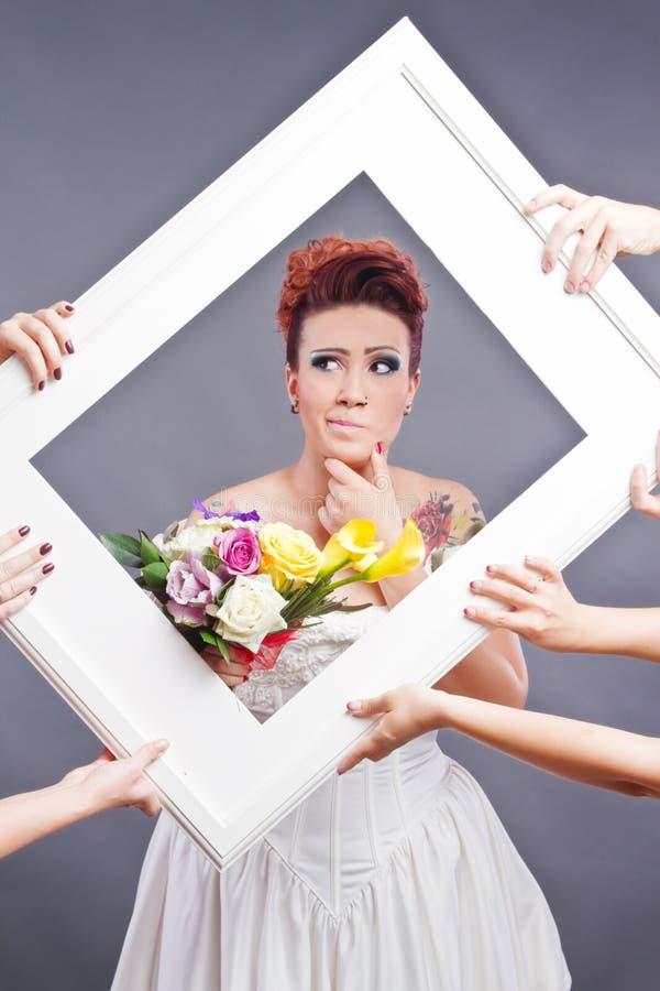 Bröllopplanläggningsbegrepp royaltyfria foton