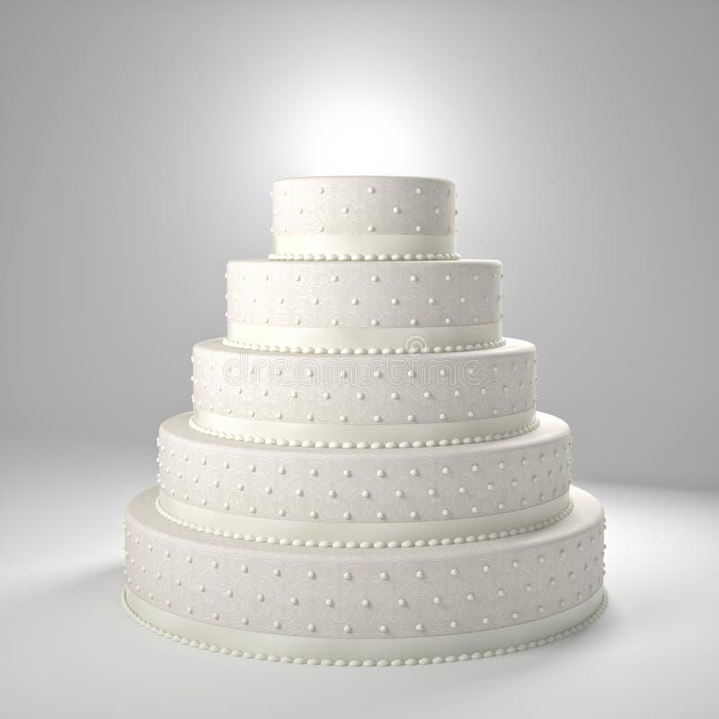 Bröllopstårta royaltyfri illustrationer