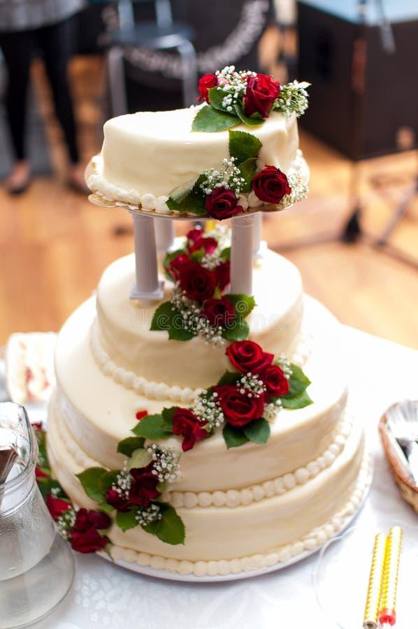 Bröllopstårta fotografering för bildbyråer