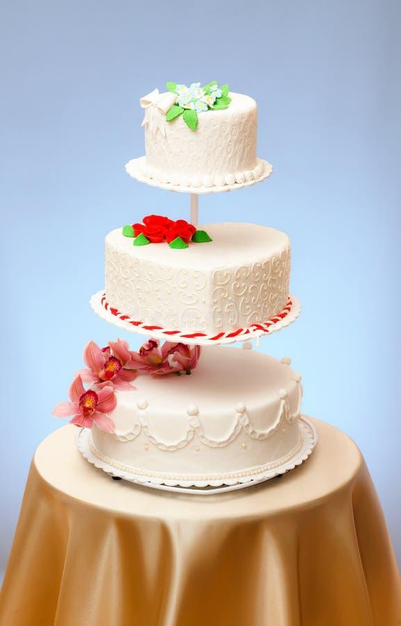 Bröllopstårtamodeller fotografering för bildbyråer