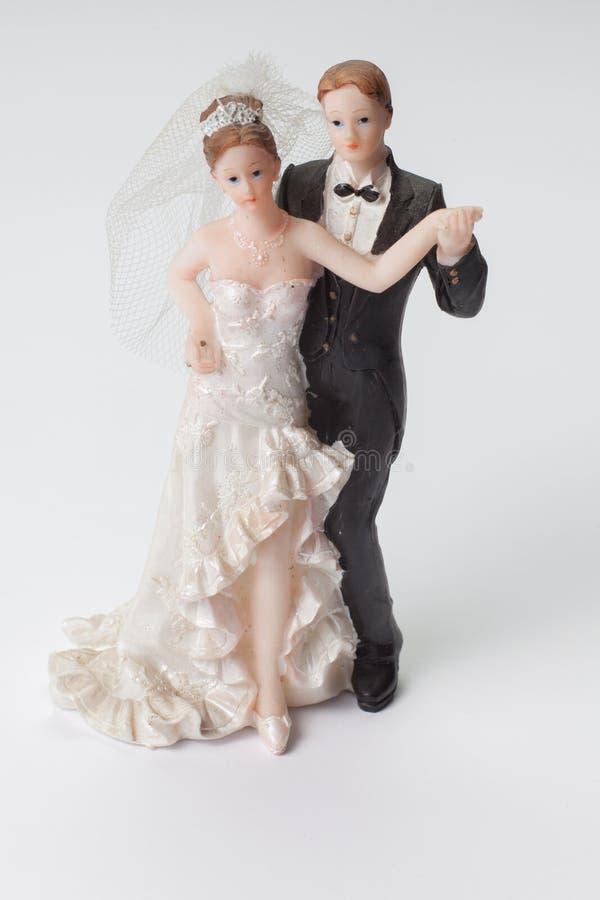 Bröllopstatyett royaltyfri bild
