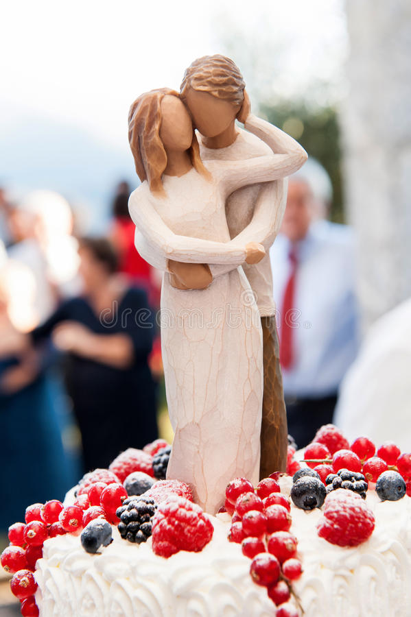 Bröllopstatyetter fotografering för bildbyråer