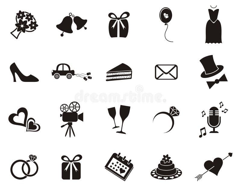 Bröllopsymboler vektor illustrationer