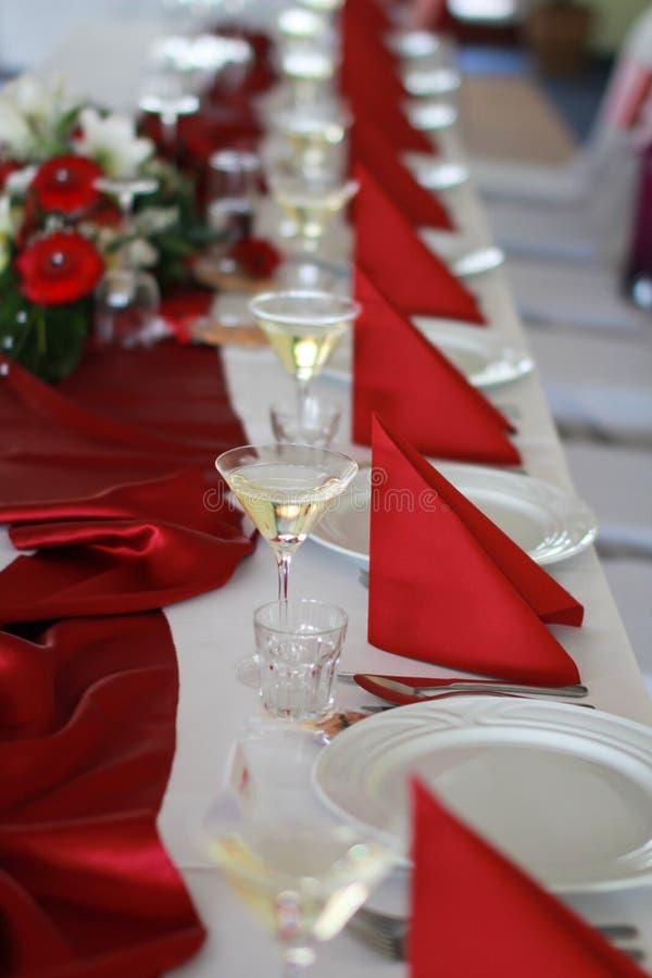 Brölloptabell royaltyfri bild