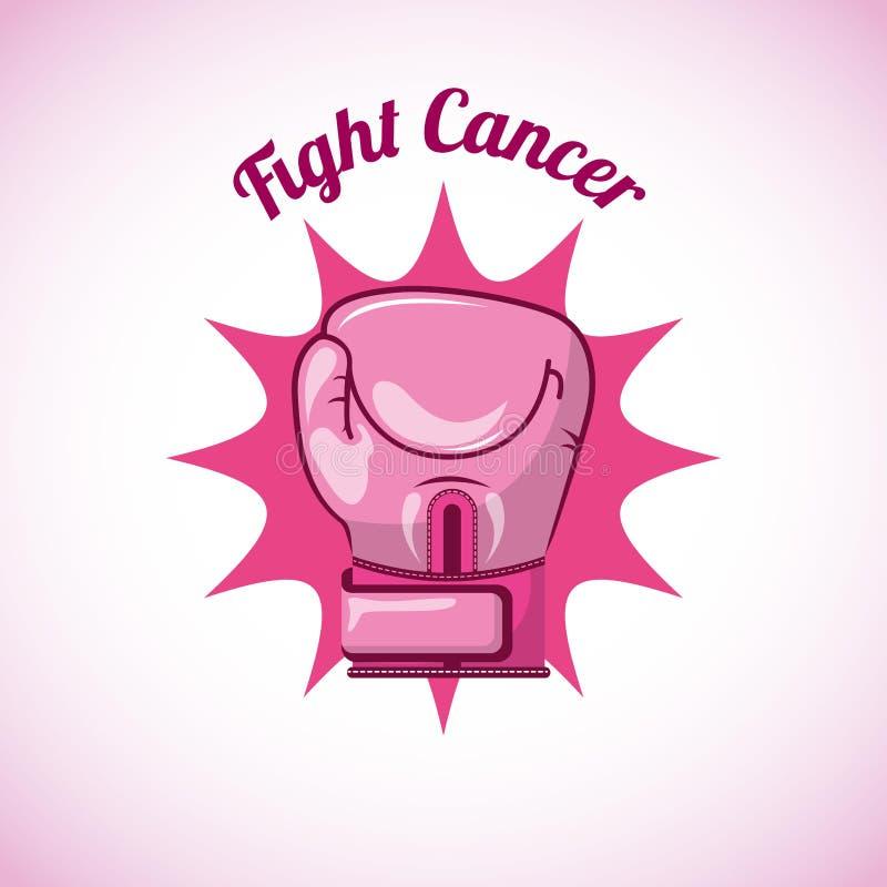 Bröstcancerdesign royaltyfri illustrationer