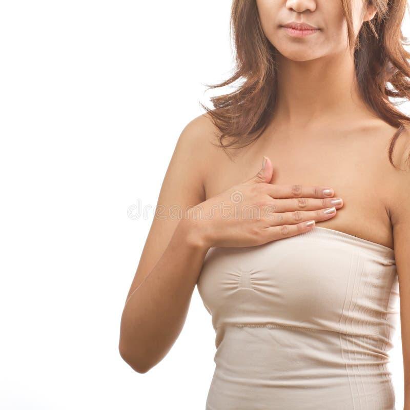 bröstcancerkontrollsjälv royaltyfria bilder