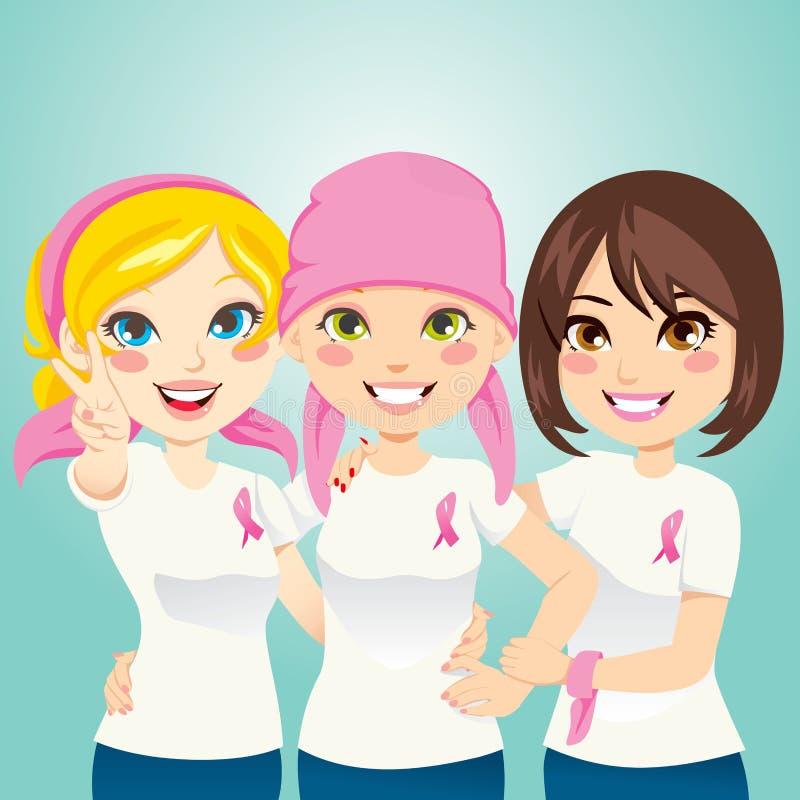 bröstcancerslagsmål royaltyfri illustrationer
