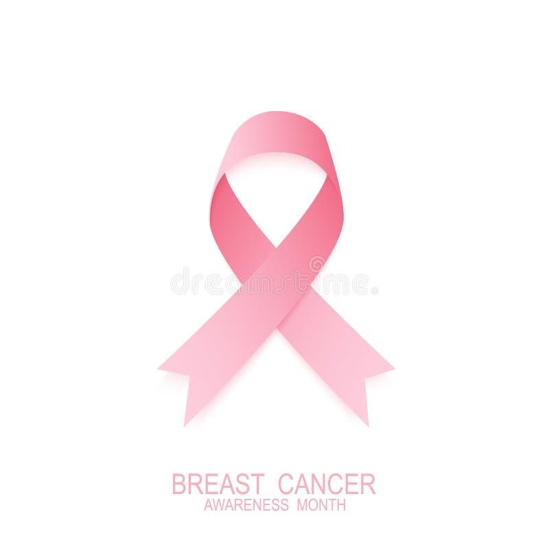 Bröstcanser pink bandet Nationell bröstcancermedvetenhetmånad stock illustrationer