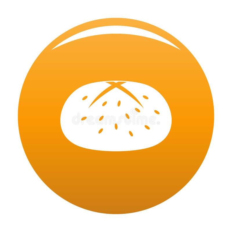 Brötchenikonenorange stock abbildung
