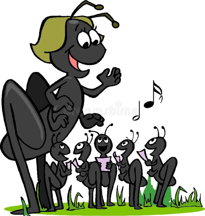Brûlage des fourmis illustration de vecteur