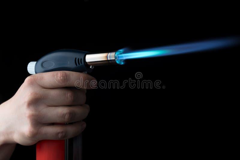 Brûleur à gaz manuel images stock