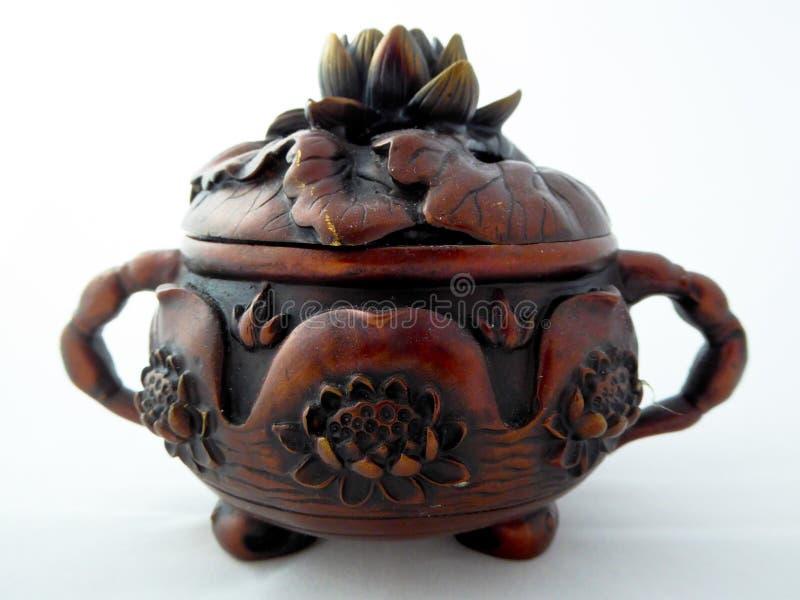 Brûleur d'insense de bronze de Lotus images stock