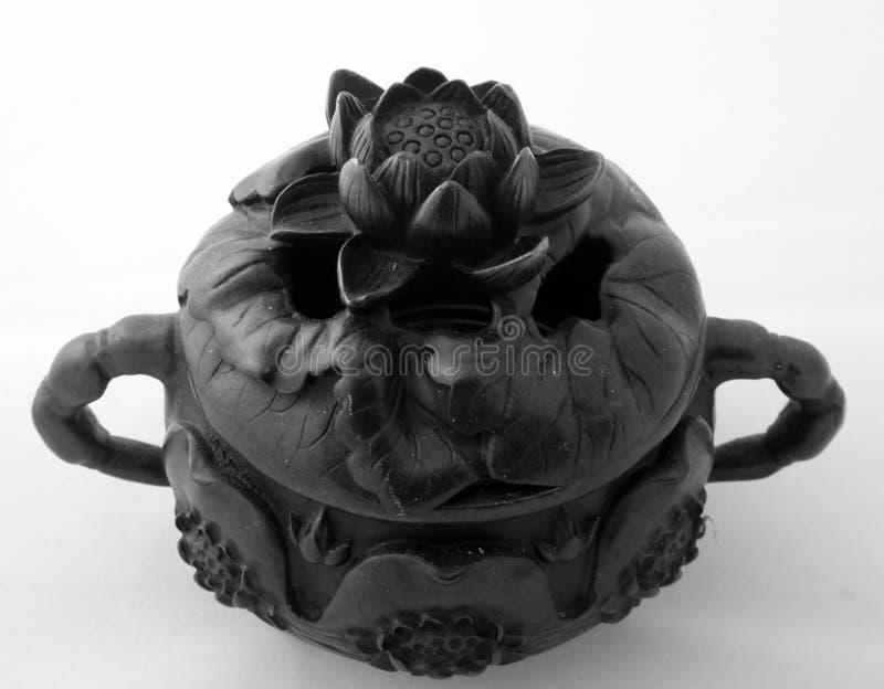 Brûleur d'insense de bronze de Lotus image stock