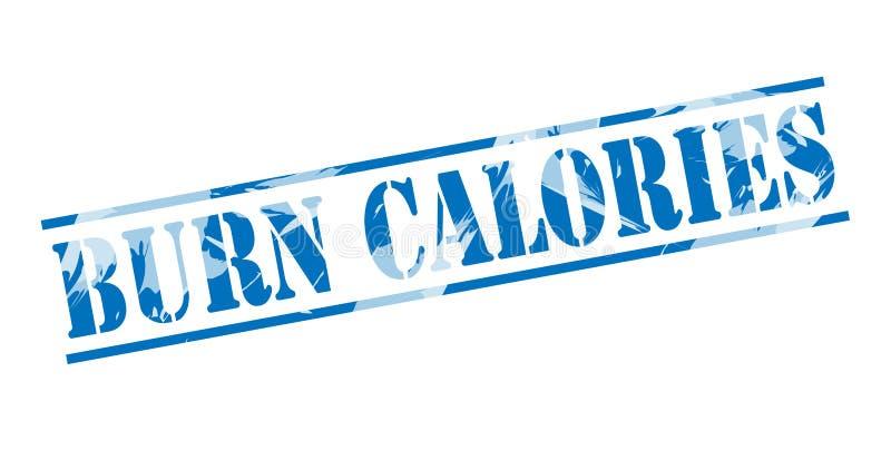 Brûlez le timbre bleu de calories illustration libre de droits
