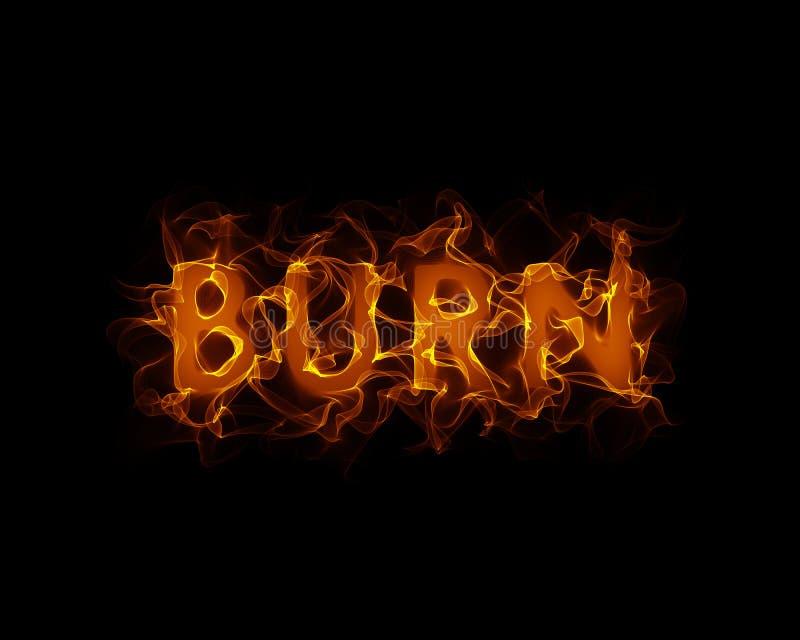 Brûlure illustration de vecteur
