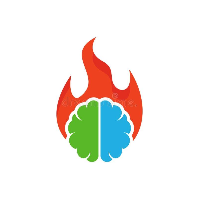 Brûlure Brain Logo Icon Design illustration libre de droits