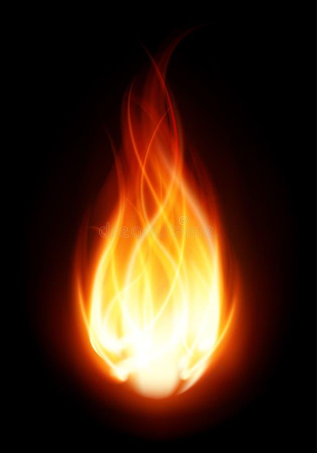 Brûlure de flamme de bille d'incendie illustration de vecteur
