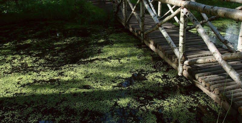 Brücke über dem Strom lizenzfreie stockfotografie
