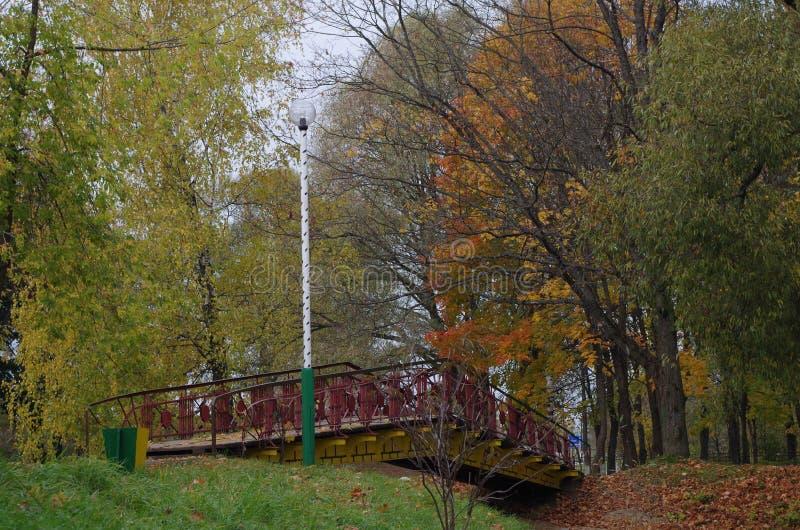 Brücke über dem Teich lizenzfreie stockfotos