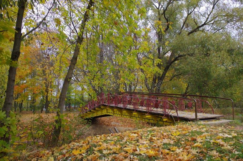 Brücke über dem Teich lizenzfreie stockbilder