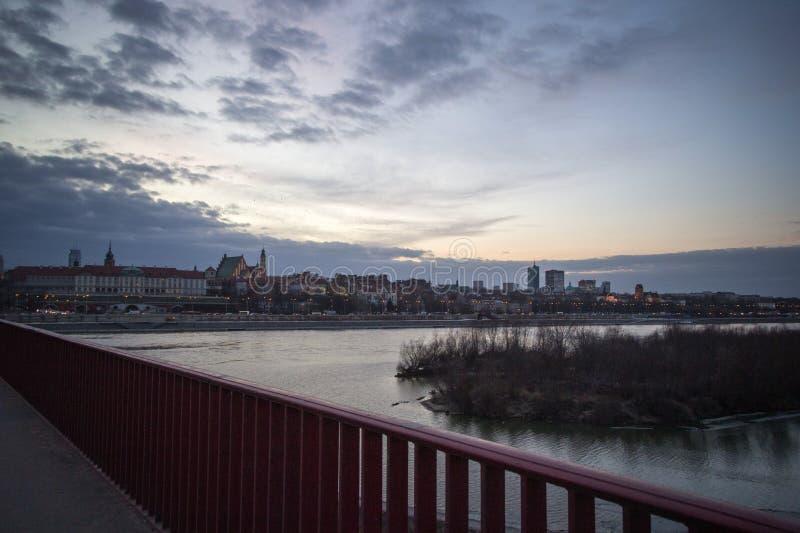 Brücke über dem Visla in Polen, Warshava stockfotografie