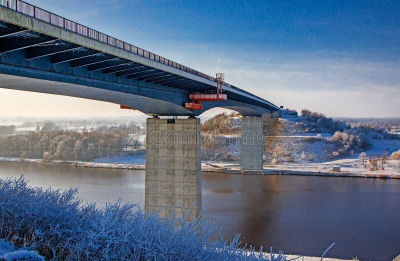 Brücke über Kiel Canal, Deutschland lizenzfreie stockbilder