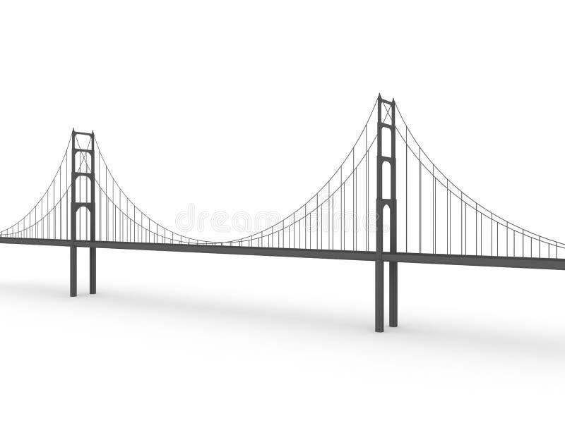 Brücke 3d lizenzfreie abbildung