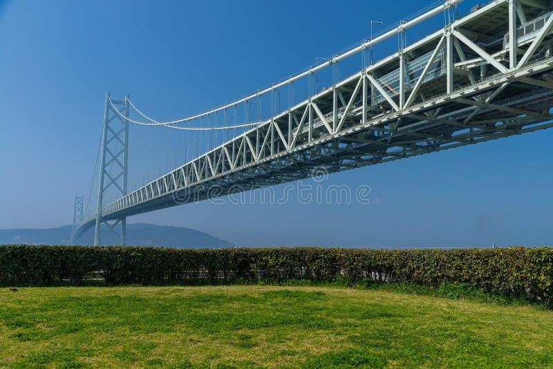 Brücke Akashi Kaikyo, Weltlängste Suspendierungs-Metallbrücke stockbilder