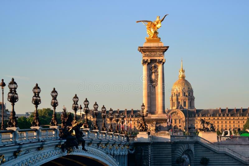 Brücke Alexandre-III lizenzfreies stockbild