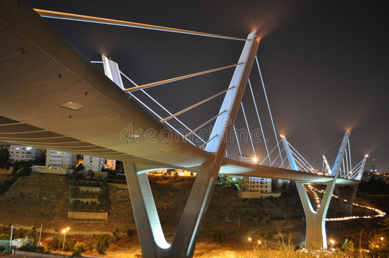 Brücke in Amman stockfotos