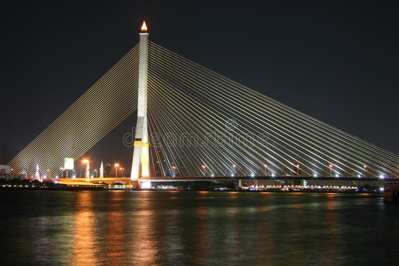 Brücke in Bangkok stockbild