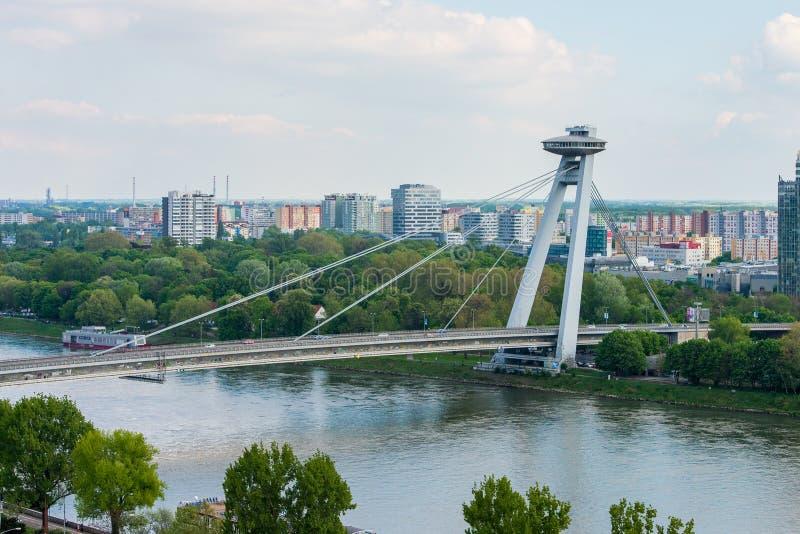 Brücke Bratislavas SNP lizenzfreies stockfoto