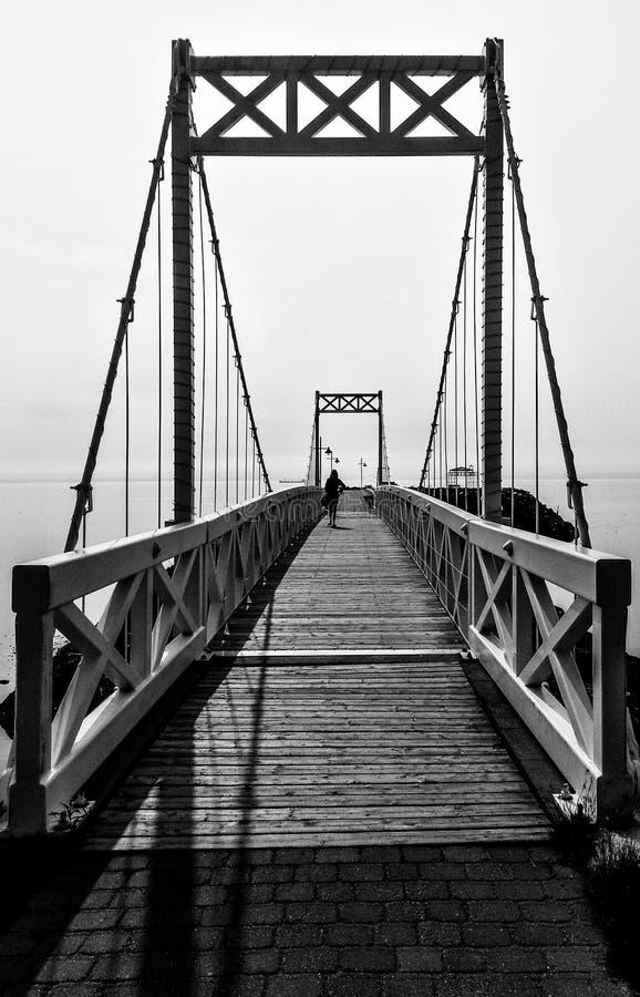 Brücke in Charlevoix lizenzfreie stockfotos