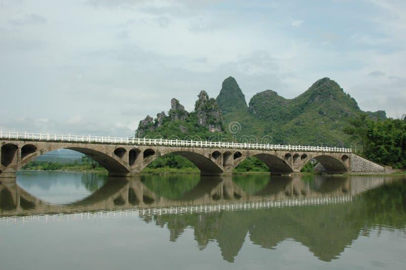 Brücke in China lizenzfreies stockbild
