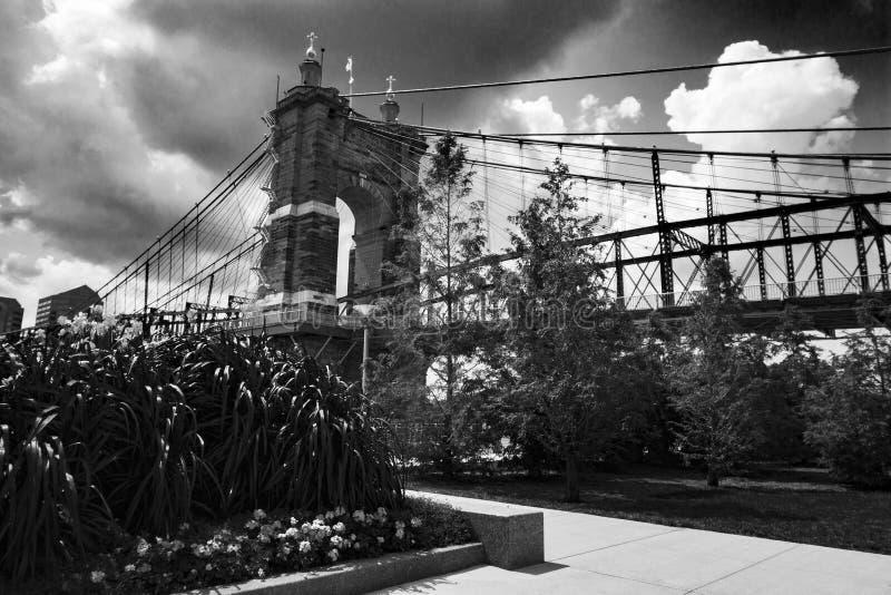 Brücke in Cincinnati lizenzfreie stockfotos