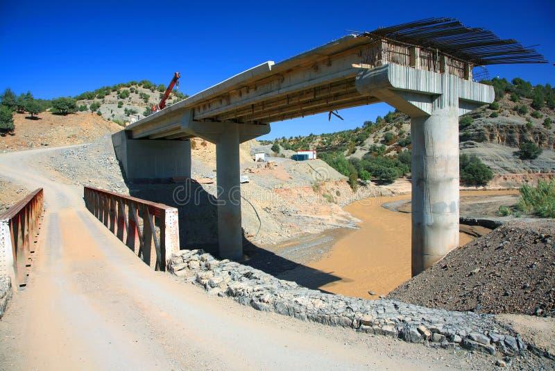 Brücke contruction stockbild