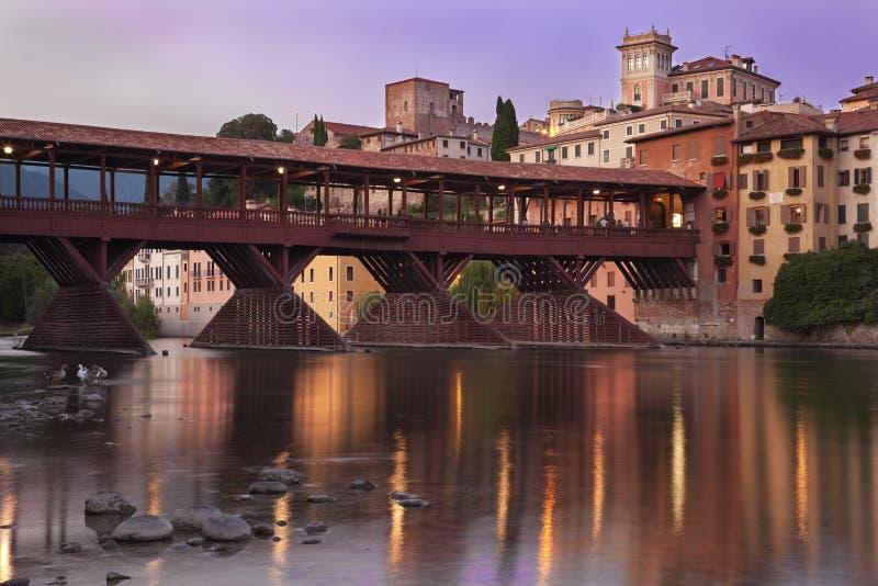 Brücke der Bassano alpines stockfotografie