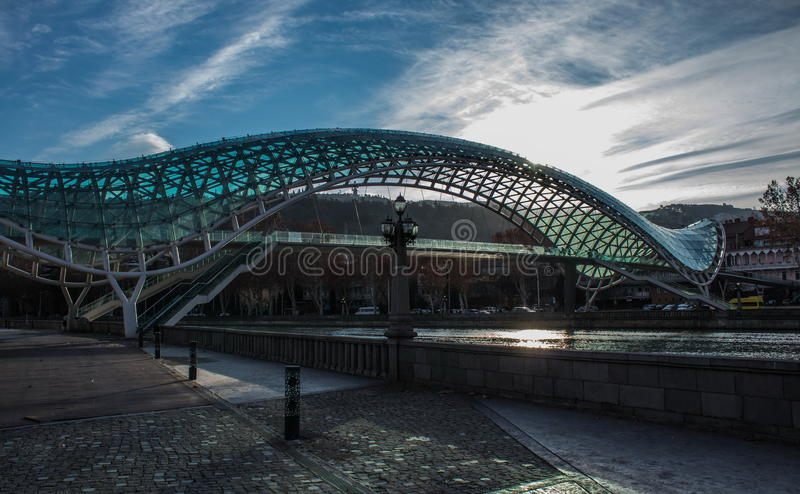 Brücke des Friedens stockfoto