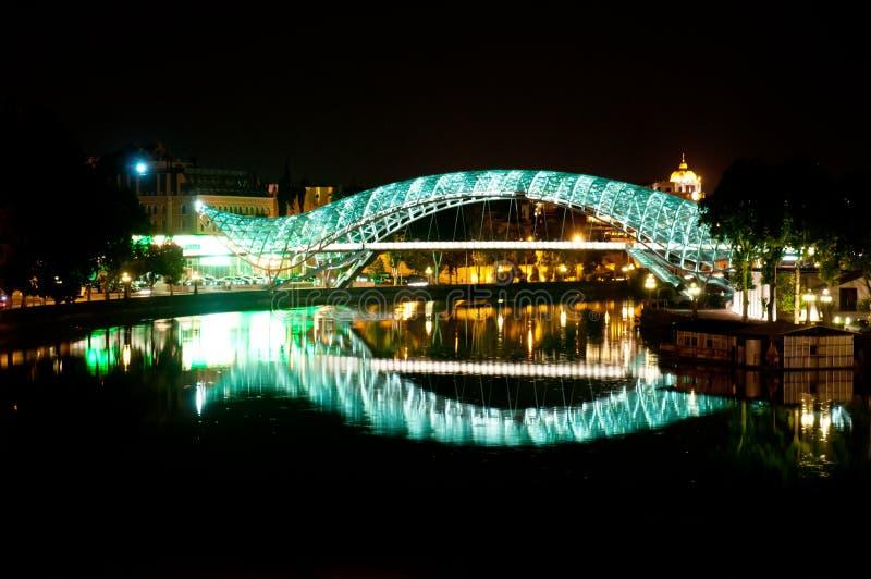 Brücke des Friedens in Tbilisi lizenzfreies stockfoto