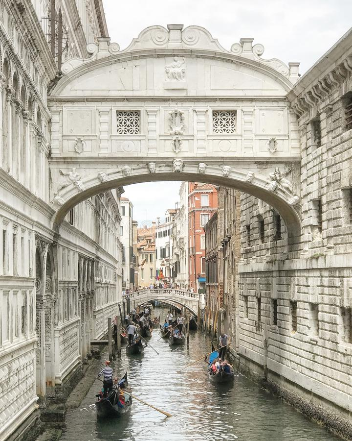 Brücke des Seufzers lizenzfreies stockbild