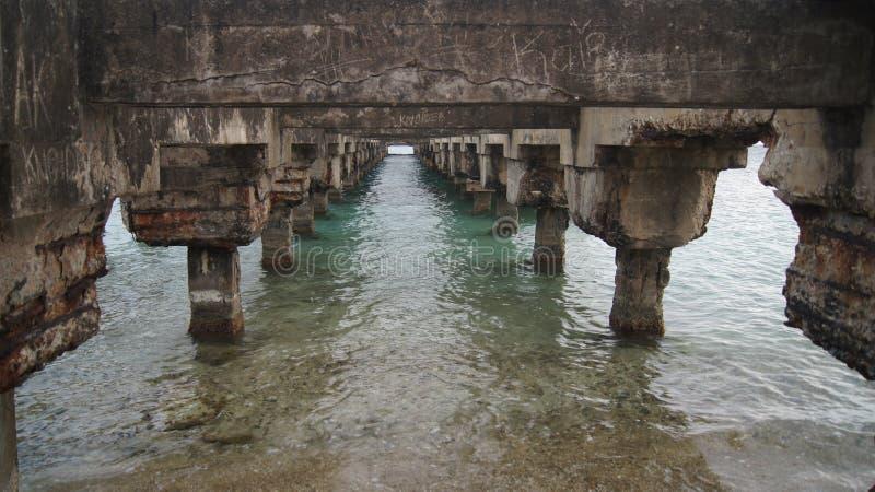 Brücke in Esperanza, Vieques, Puerto Rico. Puente  stockfotografie